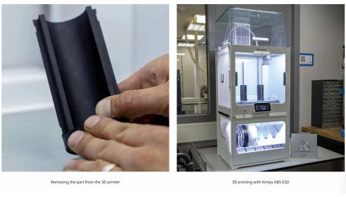 Grupul Haenssler  Utilizarea filamentului Kimya ABS-ESD cu sistemul de filament deschis Ultimaker